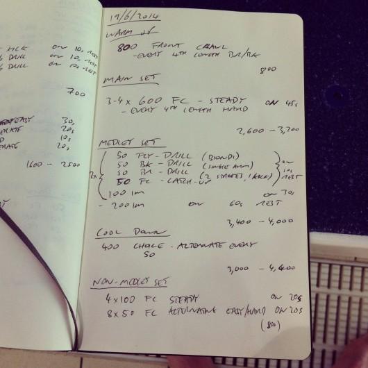 Thursday, 19th June 2014 - Endurance Swim Session