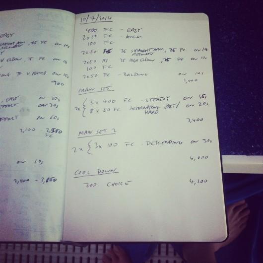 Thursday, 10th July 2014 - Endurance Swim Session