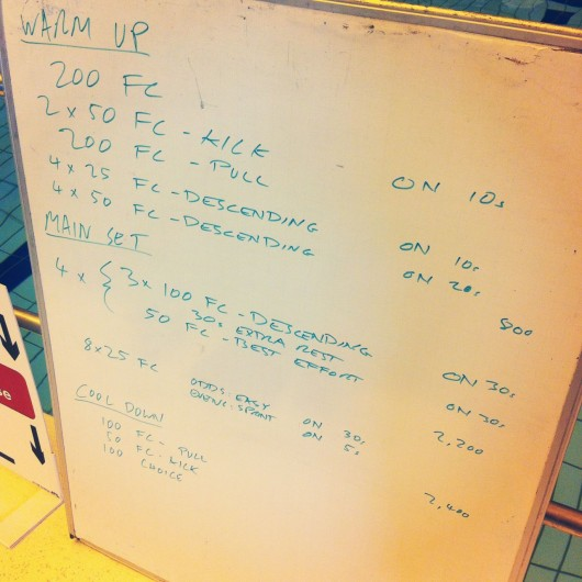 Tuesday, 22nd July 2014 - Endurance Swim Session