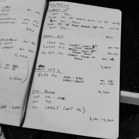 Thursday, 24th July 2014 - Endurance Swim Session