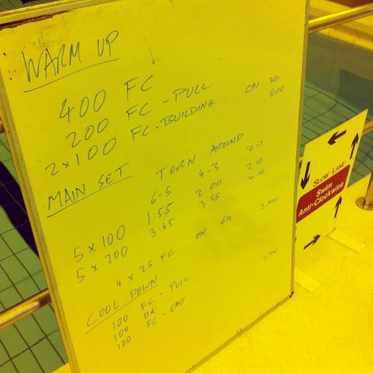 Tuesday, 12th August 2014 - Endurance Swim Session