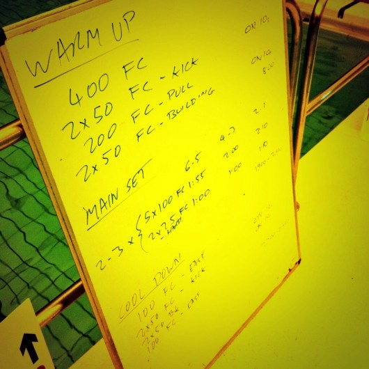 Tuesday, 2nd September 2014 - Endurance Swim Session
