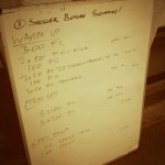 Tuesday, 23rd September 2014 - Endurance Swim Session