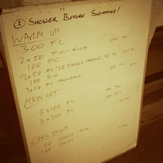 Tuesday, 23rd September 2014 - Endurance Swim Session