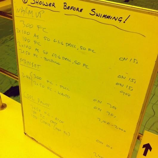 Tuesday, 30th September 2014 - Endurance Swim Session