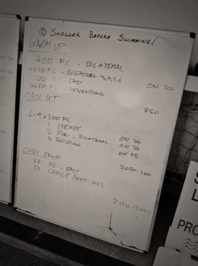 Tuesday, 7th October 2014 - Endurance Swim Session