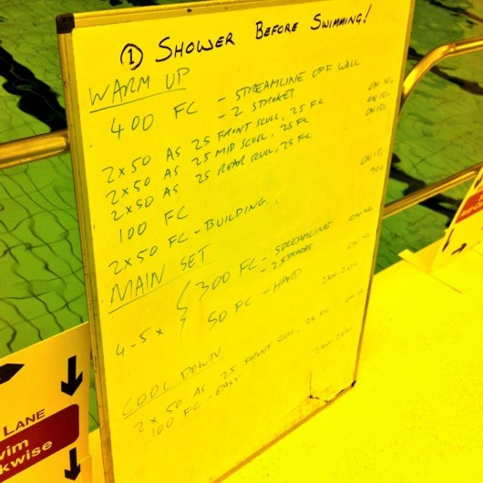 Tuesday, 14th October 2014 - Endurance Swim Session