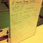 Tuesday, 21st October 2014 - Endurance Swim Session