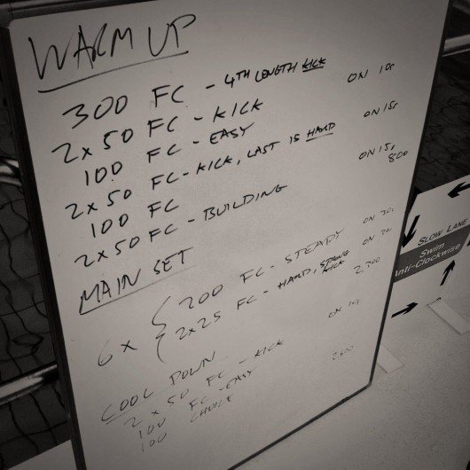 Tuesday, 4th November 2014 - Endurance Swim Session