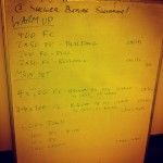 Tuesday, 25th November 2014 - Endurance Swim Session