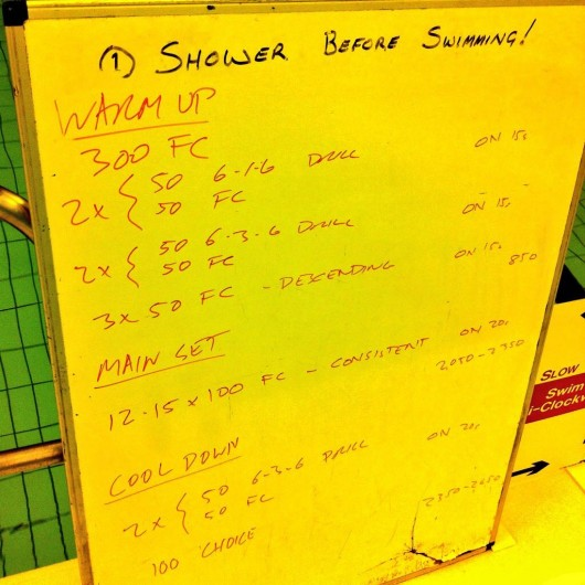 Tuesday, 2nd December 2014 - Endurance Swim Session