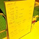 Tuesday, 16th December 2014 - Endurance Swim Session