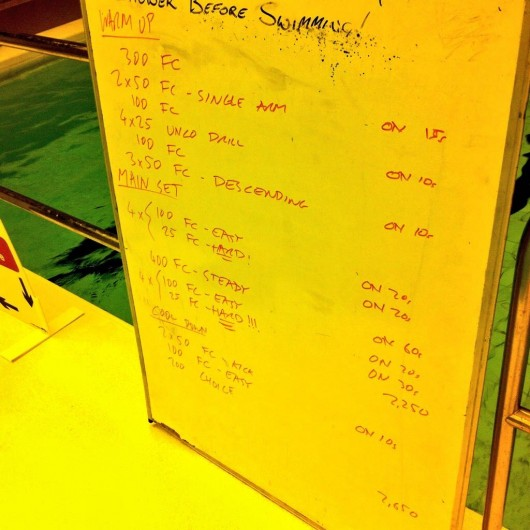 Tuesday, 23rd December 2014 - Endurance Swim Session