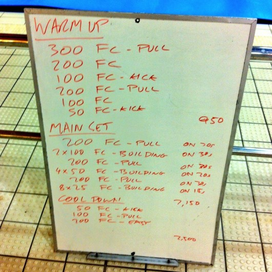 Wednesday, 24th December 2014 - Endurance Swim Session