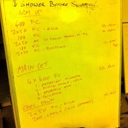 Tuesday, 6th January 2015 - Endurance Swim Session