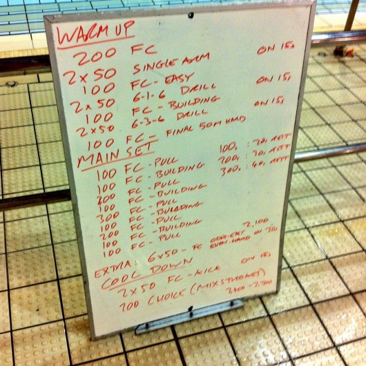 Wednesday, 21st January 2015 - Endurance Swim Session