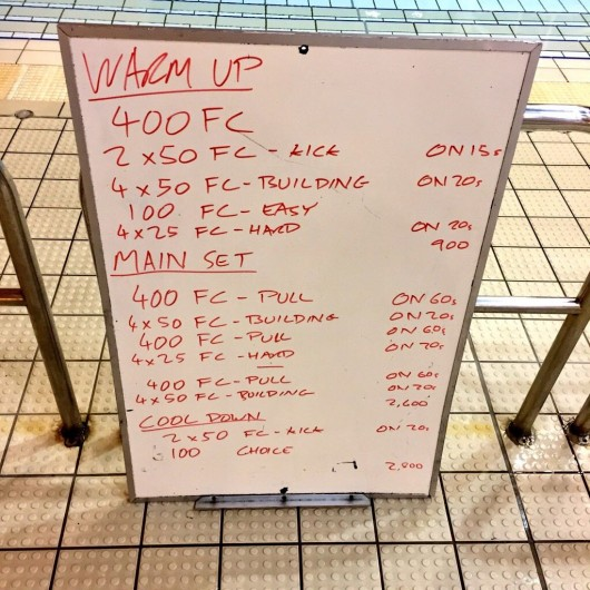 Wednesday, 4th February 2015 - Endurance Swim Session