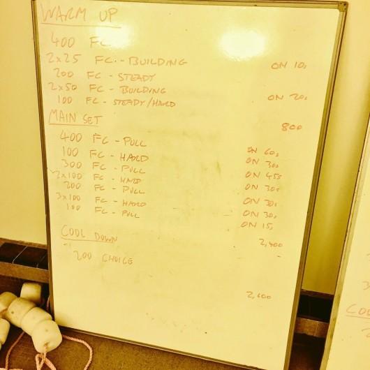 Tuesday, 10th March 2015 - Endurance Swim Session