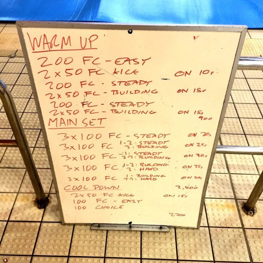 Wednesday, 11th March 2015 - Endurance Swim Session