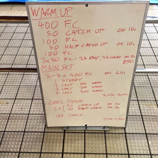 Wednesday, 1st April 2015 - Endurance Swim Session