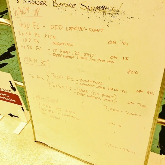 Tuesday, 14th April 2015 - Endurance Swim Session