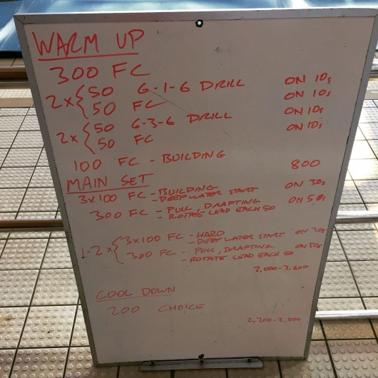 Wednesday, 22nd April 2015 - Endurance Swim Session