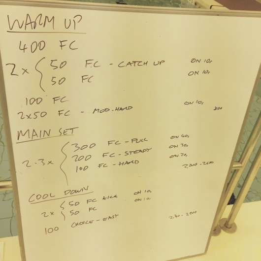 Tuesday, 5th May 2015 - Endurance Swim Session