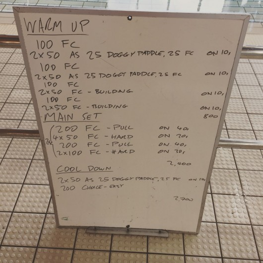 Wednesday, 6th May 2015 - Endurance Swim Session