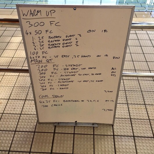 Wednesday, 27th May 2015 - Endurance Swim Session