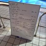 Wednesday, 3rd June 2015 - Endurance Swim Session
