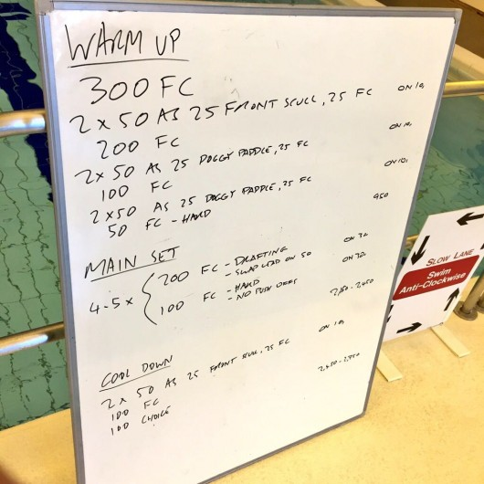 Tuesday, 9th June 2015 - Endurance Swim Session