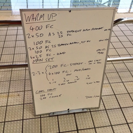 Wednesday, 10th June 2015 - Endurance Swim Session