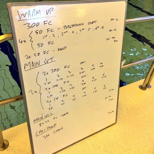 Tuesday, 16th June 2015 - Endurance Swim Session