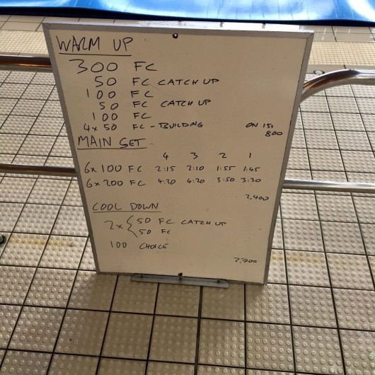 Wednesday, 24th June 2015 - Endurance Swim Session