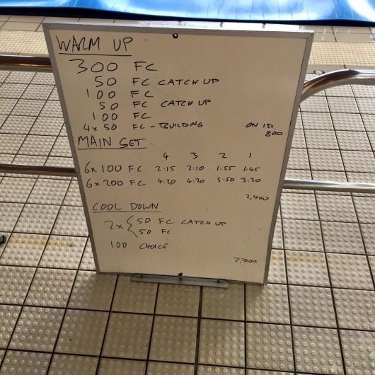 Wednesday, 24th June 2015 - Endurance Swim Session
