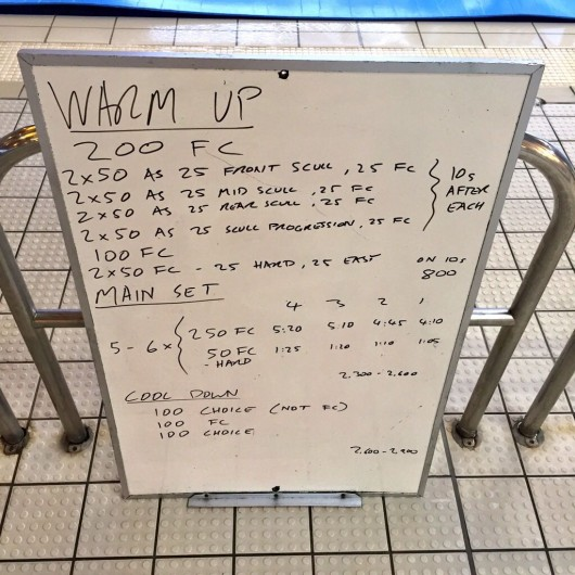 Wednesday, 15th July 2015 - Endurance Swim Session