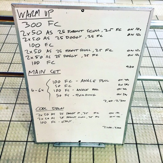 Wednesday, 2nd September 2015 - Endurance Swim Session