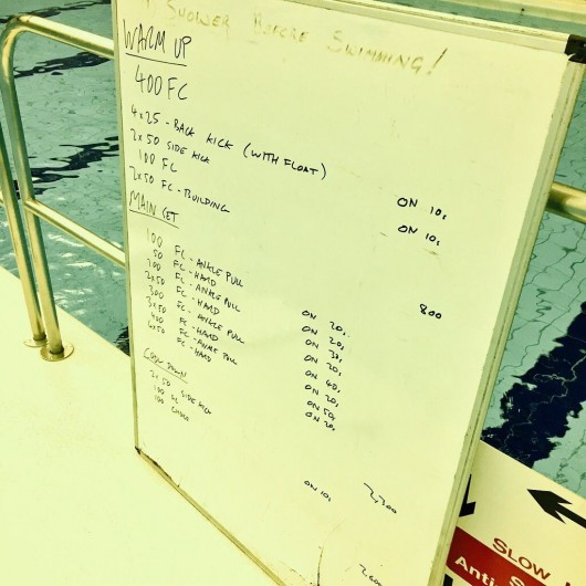 Tuesday, 8th September 2015 - Endurance Swim Session