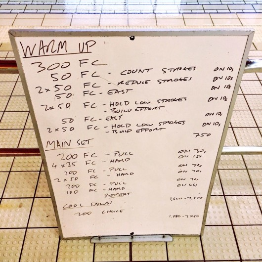 Wednesday, 9th September 2015 - Endurance Swim Session