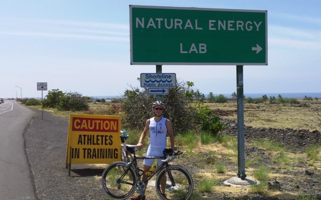 Russ on the Kona Bike Course