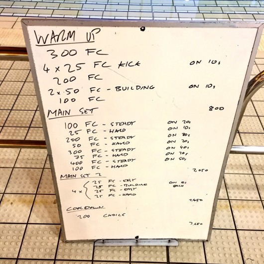 Wednesday, 30th September 2015 - Endurance Swim Session
