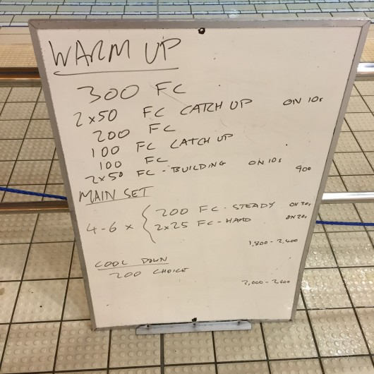 Wednesday, 28th October 2015 - Endurance Swim Session