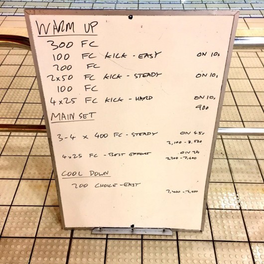 Wednesday, 11th November 2015 - Endurance Swim Session