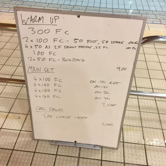 Wednesday, 25th November 2015 - Swim Session