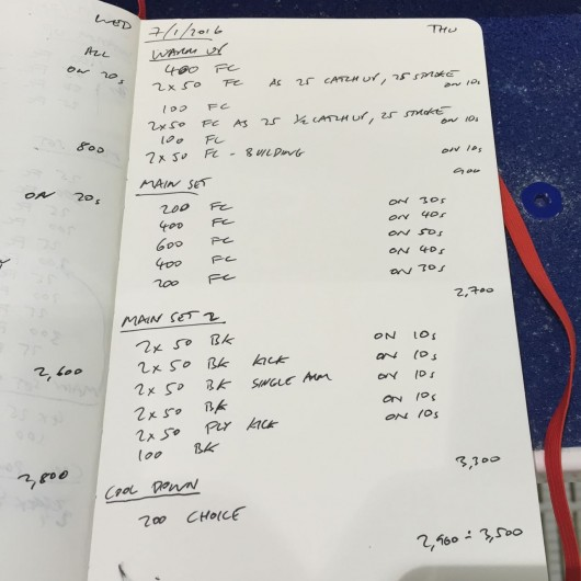 Thursday, 7th January 2016 - Swim Session