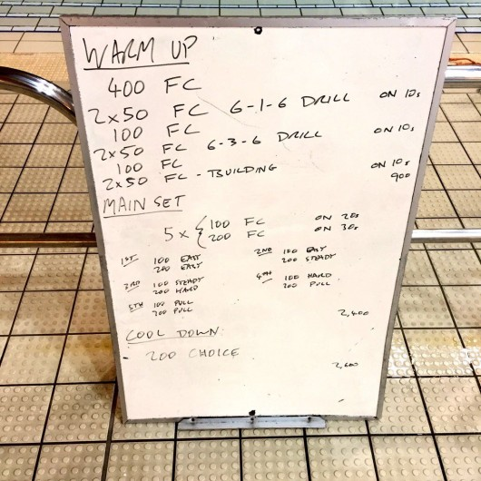 Wednesday, 13th January 2016 - Swim Session
