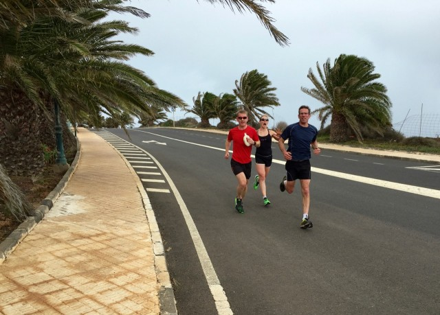 The first group run of camp - some hill work