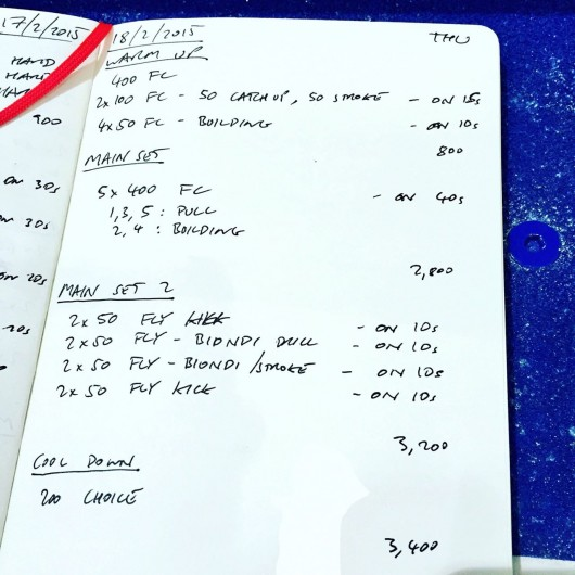 Thursday, 18th February 2016 - Swim Session