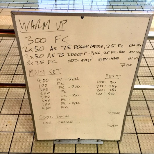 Wednesday, 23rd February 2016 - Swim Session