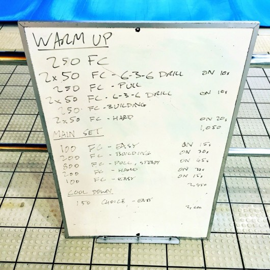 Wednesday, 23rd March 2016 - Swim Session